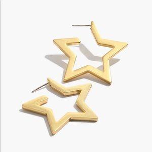 Madewell star hoop earrings NWT